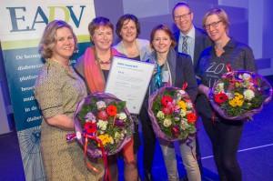 Van links naar rechts: Mirjam Offringa, Guusje Neijens, Cathelijne van de Sande, Rianne de Kruijf